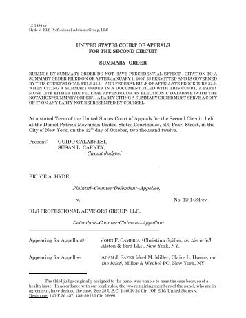 Hyde v. KLS Professional Advisors Group - Non-Compete and Trade ...