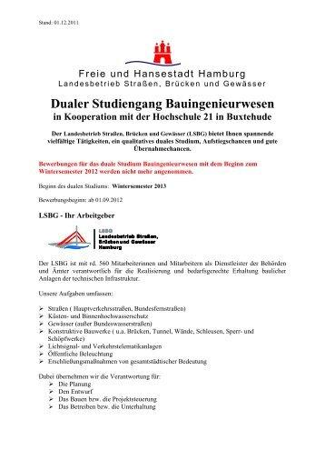 Dualer Studiengang Bauingenieurwesen - Landesbetrieb Strassen ...