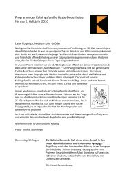 Siehe Kolpingprogramm - Christus-koenig-os.de