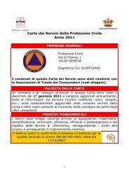 carta dei servizi protezione civile 2011 - Comune di Genova