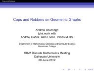 Cops and Robbers on Geometric Graphs - Mathematics