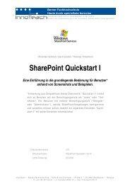SharePoint Quickstart I