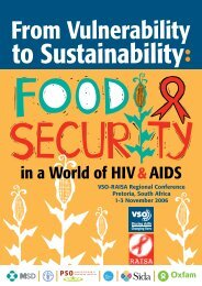 From Vulnerability to Sustainability: Food Security in a World ... - VSO