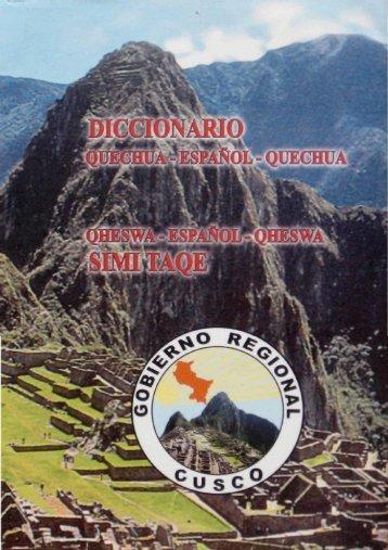 diccionario quechua cusco - ILLA