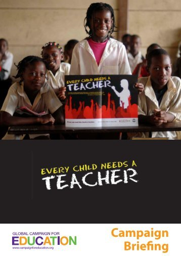 Every Child Needs a Teacher – GCE campaign briefing - VSO