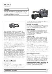 Sony : Informations produit : HDW-790P (HDW790P) : France
