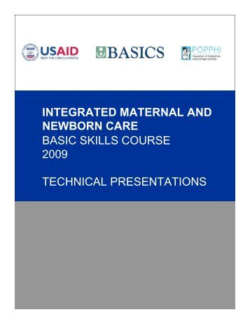 Integrated Maternal and Newborn Care Basic Skills Course ...
