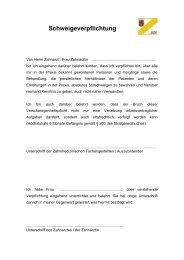 Schweigeverpflichtung - Bezirkszahnärztekammer Pfalz