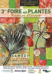 Foire aux plantes du Lycée Horticole de Romans sur Isère (26)