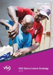 Sierra Leone country strategy 2012 - VSO