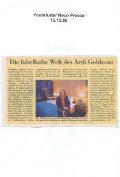 Die fabelhafte Welt des Ardi Goldman