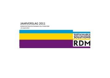 JAARVERSLAG 2011 - RDM Campus