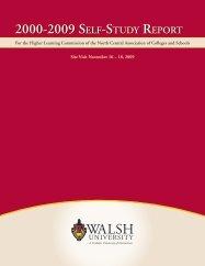 Self-Study Report - Walsh University