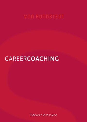 Broschüre: CareerCoaching - von Rundstedt