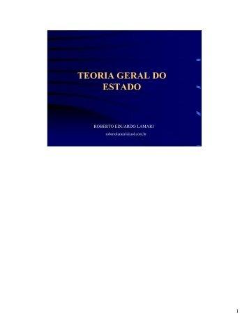 teoria geral do estado - Assembleia Legislativa do Estado de São ...