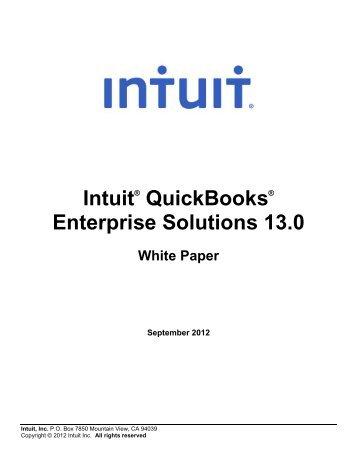 QuickBooks Enterprise Edition product Detail – Web - Intuit