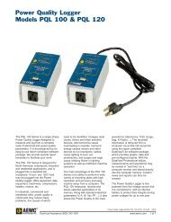 Power Quality Logger Models PQL 100 & PQL 120 - Temple, Inc.