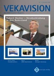 Hubert Hecker – Verabschiedung in den Ruhestand - Veka