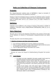cheque collection policy - Baroda UP Gramin Bank