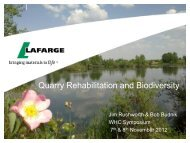 Quarry Rehabilitation and Biodiversity - Wildlife Habitat Council