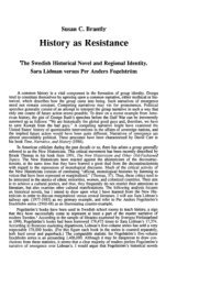 History as Resistance - Department of Scandinavian Studies