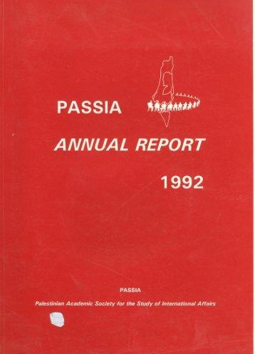 PASSIA Annual Report 1992 - PASSIA Online Store