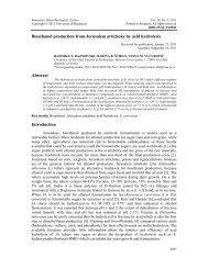Bioethanol production from jerusalem artichoke by acid ... - Rombio.eu