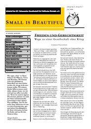 Ausgabe 3/2006 - Juli (440 KB) - E.F. Schumacher-Gesellschaft für ...