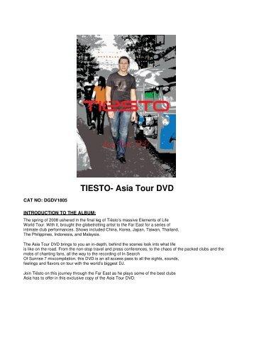 TIESTO- Asia Tour DVD - David Gresham Records