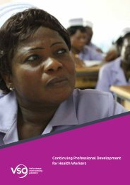 Continuing professional development for health workers - VSO