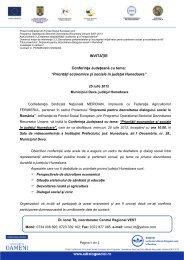 Priorități economice și sociale în județul Hunedoara - Meridian