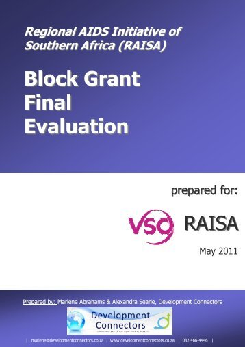external evaluation of the RAISA programme - VSO