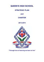 Strategic Plan and Charter - Queen's High School