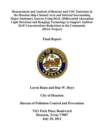 Final Report Loren Raun and Dan W. Hoyt City of ... - Green Houston