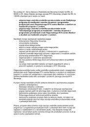Na podlagi 21. člena Zakona o Radioteleviziji ... - RTV Slovenija