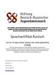 Infobroschüre TRKI - Landesverband der Russischlehrer und ...
