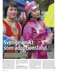 Sverige unikt som adoptionsland (pdf)