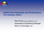 NAND Flash Reliability and Performance - Micron