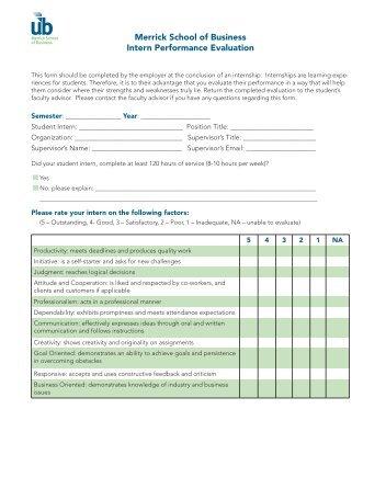 CED Intern Performance Evaluation Form