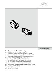 Montageanleitung Therm X2®-Trennstopfen EN
