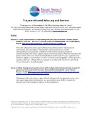 Trauma Informed Advocacy and Services - National Center on ...