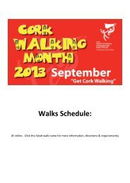 a full list of walks included in Cork Walking Month 2013