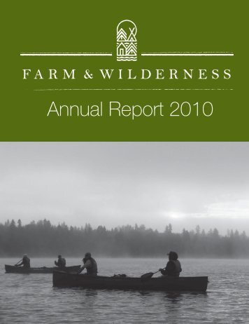 annual report 10 - for website.indd - Farm and Wilderness