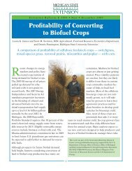Profitability of Converting to Biofuel Crops - KBS LTER - Michigan ...