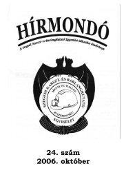 24. szám 2006. október - Szegedi Karszt- és Barlangkutató Egyesület