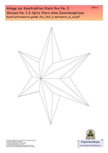 Skizze 9xx No. 2 6-Spitzstern ohne Zwischenpitzen - Projekt ...