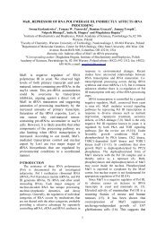 1 Maf1, REPRESSOR OF RNA POLYMERASE III, INDIRECTLY ...