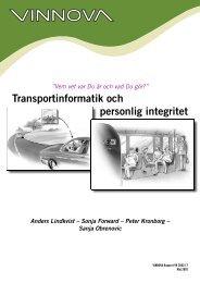 Transportinformatik och personlig integritet - Movea Trafikkonsult AB
