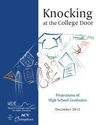 Knocking at the College Door - WICHE