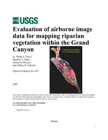 Evaluation of airborne image data for mapping riparian vegetation ...